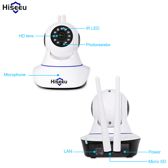 Hiseeu Home Security 720P 1080P Wifi IP Camera Audio Record SD Card Memory P2P HD CCTV Surveillance Wireless Camera Baby Monitor 4