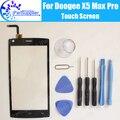 Doogee x5 max pro toque digitador toque substituição do painel de vidro digitador da tela 100% de garantia original para doogee x5 pro max