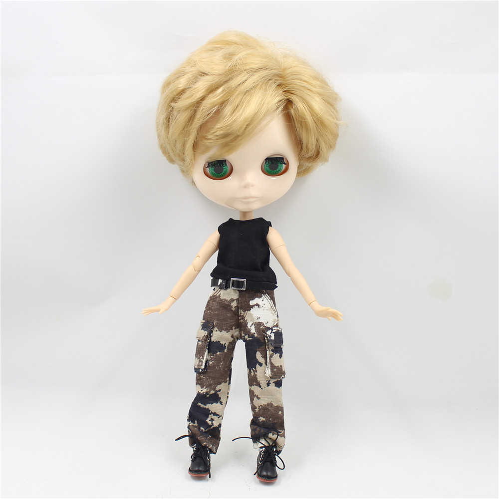 Neo Blythe Doll Military Uniform Pants Coat Outfit 5