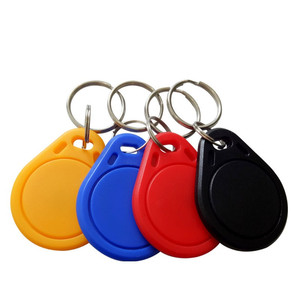 Image 1 - 10PCS 13.56MHz S50 Key Fobs NFC Tag RFID Card For Access Control System Keyfobs To
