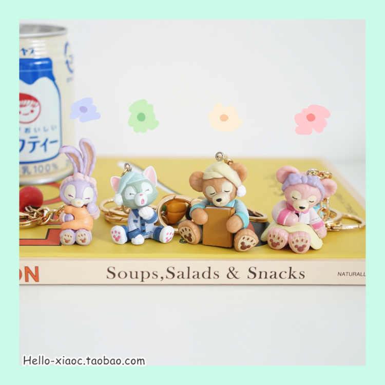 Desenhos animados kawaii duffy urso shirlymay stellalou figura de ação chaveiro chaveiro para meninas presentes sacos pingente