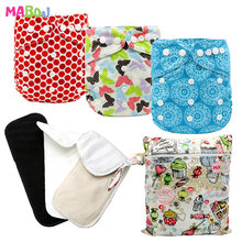 MABOJ Cloth Diapers Baby Washable Reusable Real Cloth Pocket Nappy Diaper Cover Wrap suits Birth to Potty One Size Nappy Insert happyflute os bamboo velour fitted cloth diaper ai2 onesize no synthetic material to touch baby s skin birth to potty 5 15kg