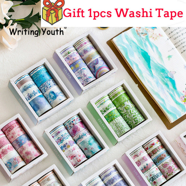 10 pcs/set Ocean Stars Wister Washi Tape Paper DIY Decorative Adhesive Tape Japanese Stationery Kawaii Masking Tapes Supplies