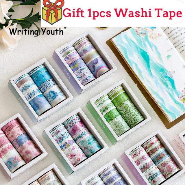 10 unids/set Ocean Stars Wister Washi cinta de papel DIY cinta adhesiva decorativa papelería japonesa Kawaii cinta adhesiva suministros