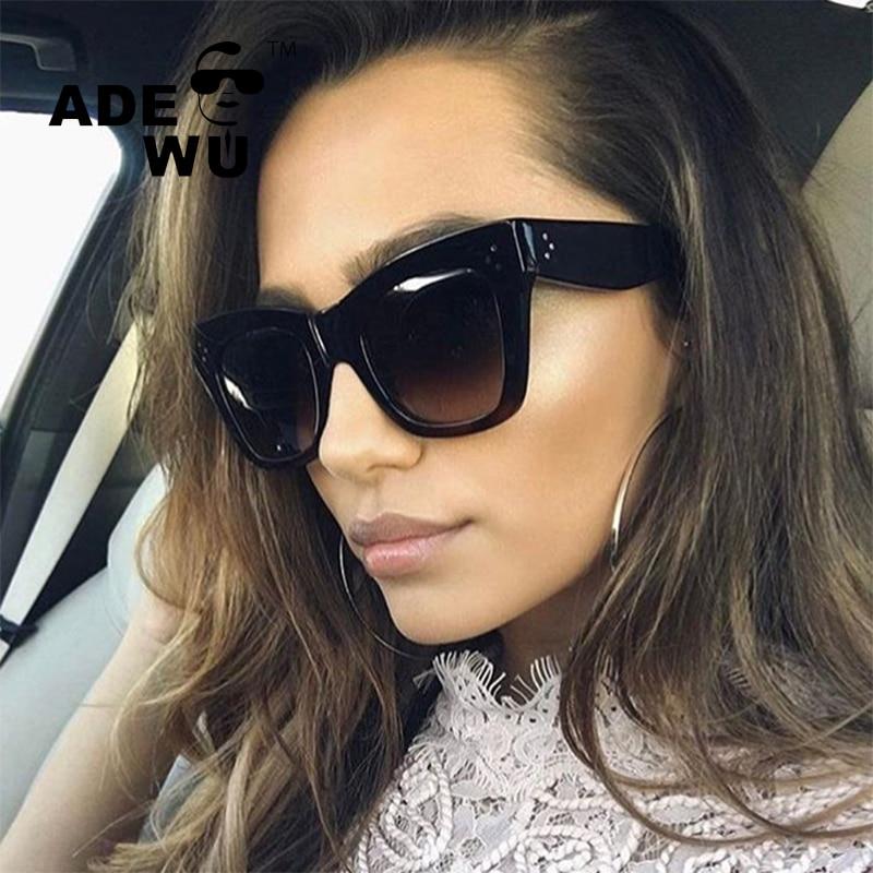 Adewu Luxury Brand Design kim kardashian Sunglasses Women Ladies Elegant Big Sun Glasses Female Eyewear Oculos De Sol Shades ...