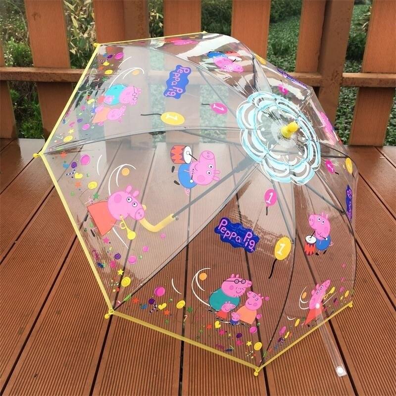 Parapluie arc-en-ciel frais enfants enfants parapluie aisha double usage enfants parapluie filles animation
