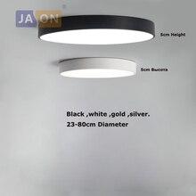 LED Modern Iron Acryl 5cm Thin Round Black White Gold Silver Chandelier Lighting Light Lamp For Foyer