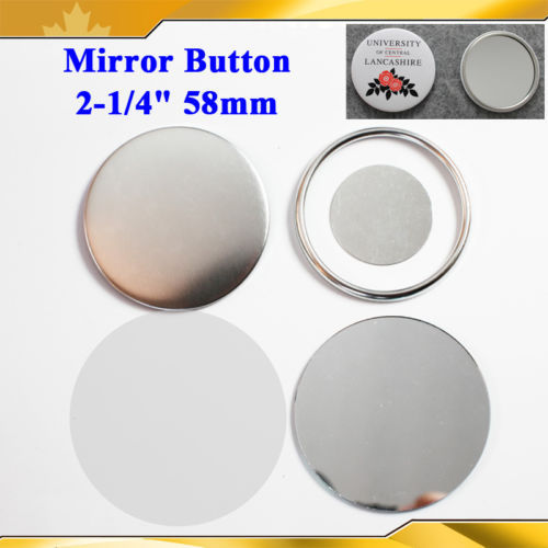 Office & School Supplies Labels, Indexes & Stamps 2-1/4 58mm 100 Sets Mirror Badge Button Supply Materials For New Professional Badge Button Maker Mild And Mellow