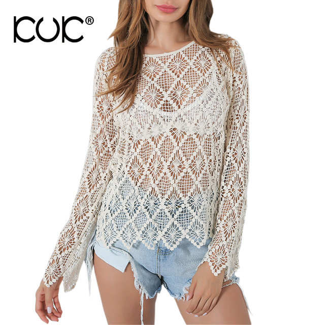 Kuk oversized sweater mujer pullover crochet pull Femme