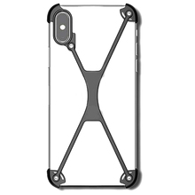 купить Metal Bumper Case for iPhone XS MAX, Slim Heavy Duty Armor Shockproof Aluminum Alloy X-Frame Phone Bumpers Protective Cover по цене 1236.84 рублей