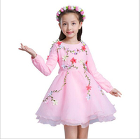 Multicolor 2017 Autumn New Girl Princess Dress Baby Wedding Dress Girl Lace Fashion Clothing Princess Dress