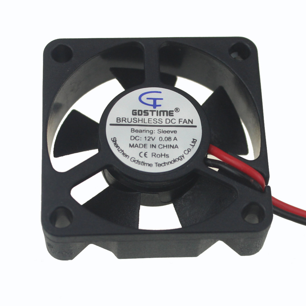 Gdstime 2 Pieces 35mm Fan 12V 2 Pin Small Brushless DC Cooling Cooler Fans 35x35x10mm 3510s 5 Blades lacywear s 35 fan