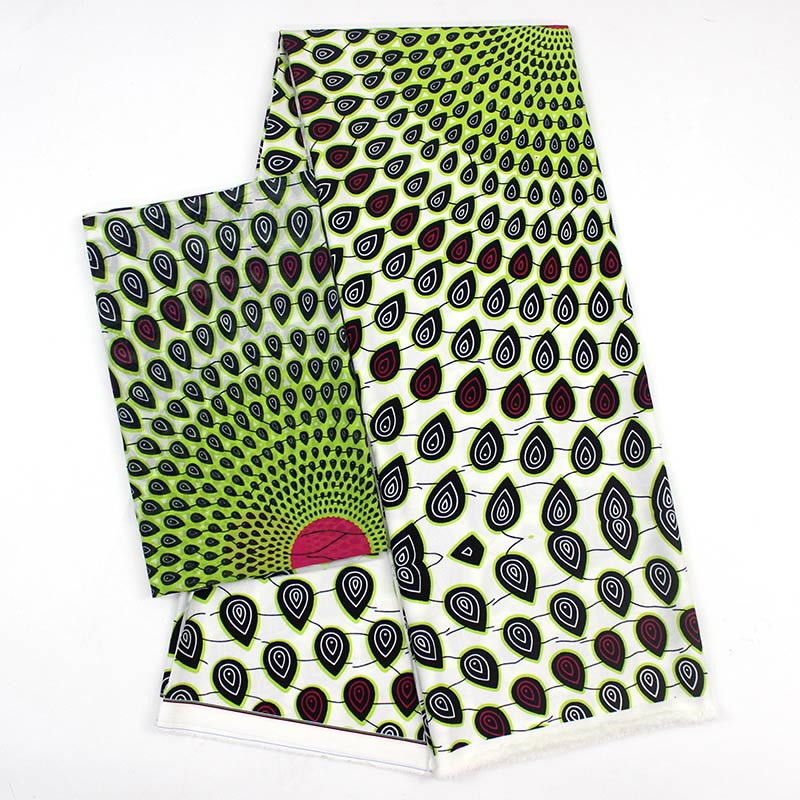 Latest african wax pattern satin silk fabric for dress creative Digital print wax satin silk fabric