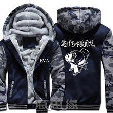 New Winter Warm Neon Genesis Evangelion Hoodies EVA Hooded Coat Thick Zipper men Jacket Sweatshirt