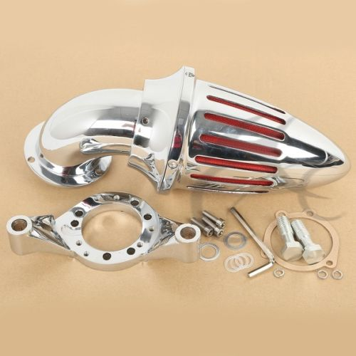 Chrome Air Cleaner Kits Intake Filter For Harley CV Carburetor Delphi V-Twin New chrome aluminum motorcycle kit cone spike air cleaner intake filter case for harley cv carburetor delphi v twin