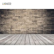 Laeacco Old Brick Wall Wooden Floor Baby Newborn Party Portrait Photography Backdrops Photo Backgrounds Photocall Photo Studio 12ft vinyl cloth dark old brick wall wood floor photo studio backgrounds for model newborn portrait photography backdrops f 257