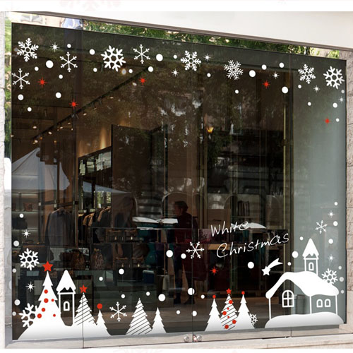 Christmas wall stickers christmas window stickers glass stickers a christmas decoration