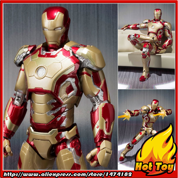 Original BANDAI Tamashii Nations S.H.Figuarts (SHF) Action Figure - Iron Man MK-42 + Bonus Gift Tony's Sofa from Iron Man 3 anime captain america civil war original bandai tamashii nations shf s h figuarts action figure ant man