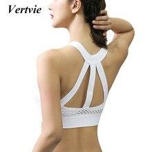 7ef874a09829e Vertvie Women s Sports Bras Fitness Yoga Cross Strap Push Up Sport Bra Gym  Running Padded Tank Athletic Vests Underwear 2019 New