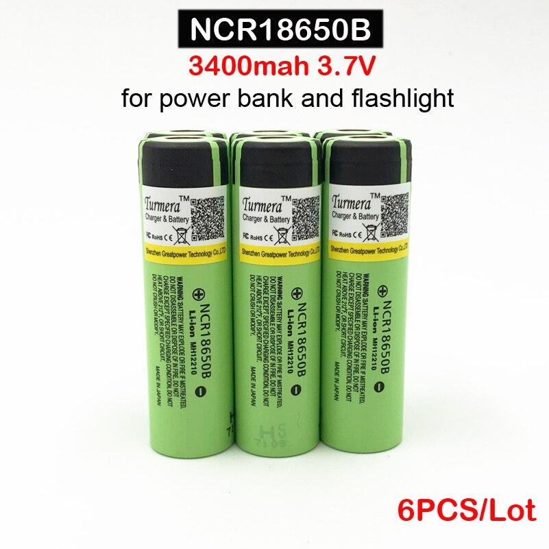 18650 ncr18650 D'origine NCR18650B 3400 mah 3.7 V Li ion Rechargeable Pour lampes de Poche/banque D'alimentation 18650 3400 mah batterie ja18