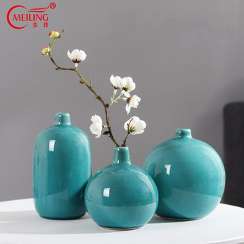 Modern Decorative Vase Crystalline Ceramic Small Flower Vases For Home Office Tabletop Restaurant Living Room Kitchen Hotel Gift 1