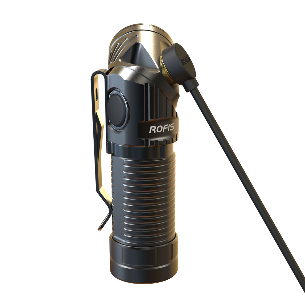 Rofis R1 LED Flashlight Headlingt in one Multi-angle Lighting 900 Lumens Magnetic USB Rechargeable EDC use Head Rotatation