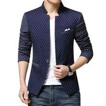 2016  New arrival Spring cotton Polyester Men Blazer printied Casual Blazer For Men Blazer Slim Fit Jacket Men Plus Size M-3XL