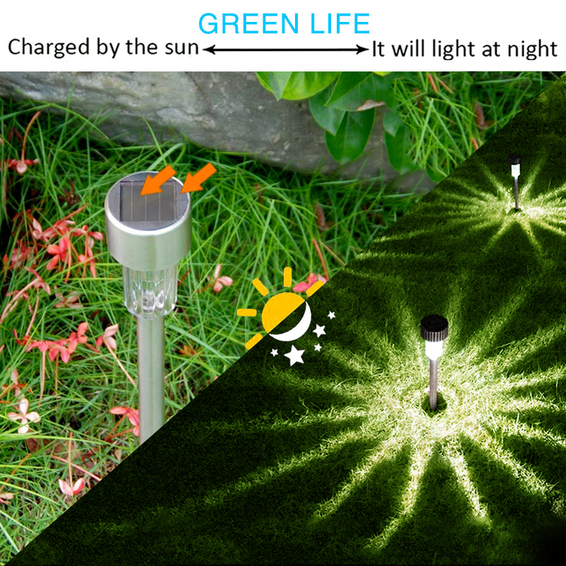 1 20PCS Led Solar Light Outdoors Luminaria Street Lamp For Garden Decoration Lantern Waterproof Solar Power Lawn Pathway Lights in Solar Lamps from Lights Lighting