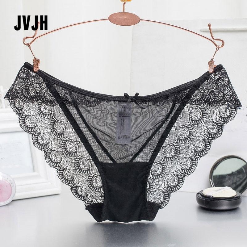 Buy Women's sexy lace Briefs Transparent Seamless Femme slips female Panties Cotton crotch Underwear erotic Panty hollow lingerie