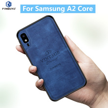 For Samsung A2 Core Original PINWUYO VINTAGE PU Leather Protective Phone Case for Galaxy Cell Cover