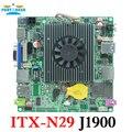 Motherboard fanless baytrail itx-n29 com lan quad core j1900 mainboard, j1900 nano itx motherboard oem