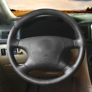 Черный чехол рулевого колеса автомобиля MEWANT из искусственной кожи для Toyota Avalon 2002-2004 Camry 2002-2004 Highlander 2001-2003