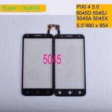 цена на 10Pcs/lot For Alcatel One pixi 4 4G 5045 OT5045 5045A 5045D 5045G Touch Screen Panel Sensor Digitizer Front LCD Glass 5045X