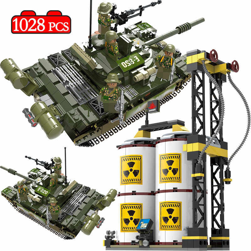 1028pcs WW2 Russia T-72 Main Battle Tank Compatible Legoed Military Army Soldier Action Figures Building Blocks Toys for Boys