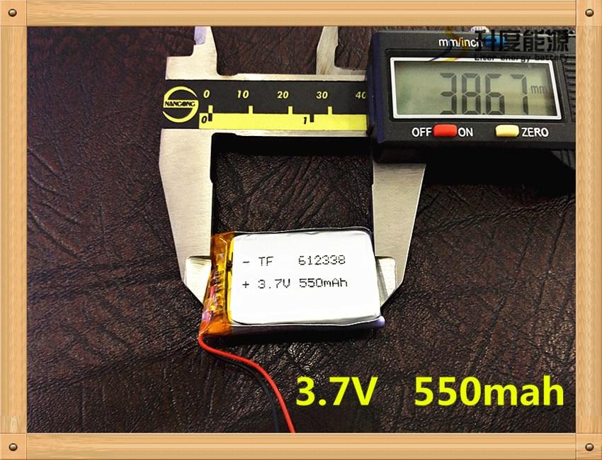 (1pieces/lot)  3.7V Lithium Polymer Battery 612338 062238 MP3 DIY Speaker Millet Bluetooth 550MAH