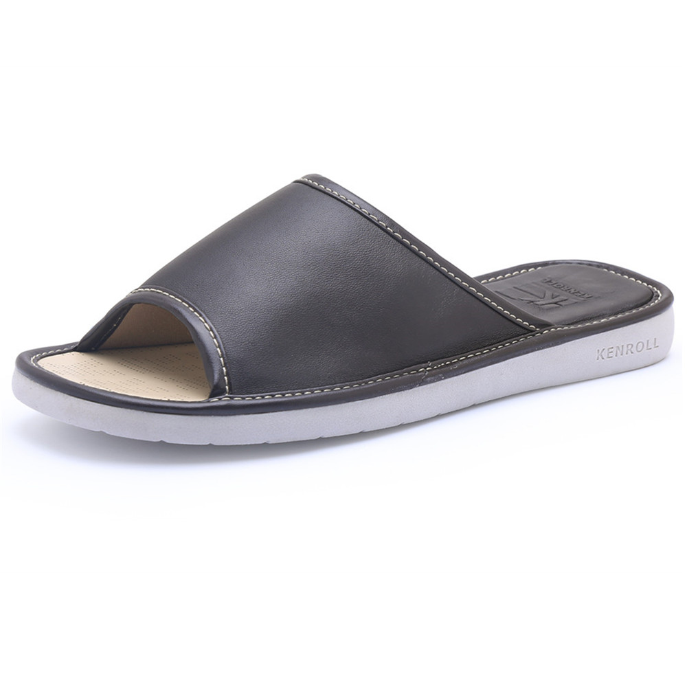 Mens Bedroom Slippers Leather Popular Leather Bedroom Slippers Buy Cheap Leather Bedroom