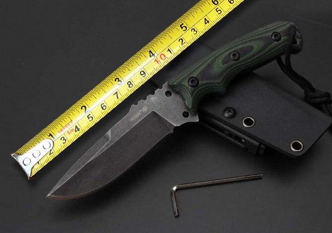 Couteau à lame fixe de survie tactique Neswest EX-F01, lame VG10 G10 poignée couteau de chasse outils, outils de Camping de survie EDC,