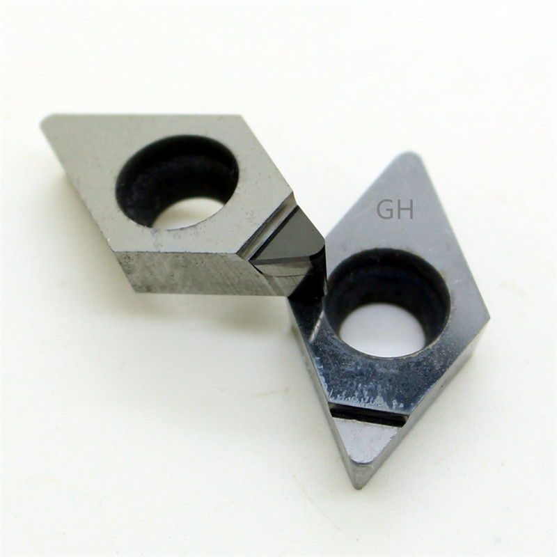 copper Polycrystalline diamond tools 2pcs DCGT DCGT070202 PCD for Aluminum