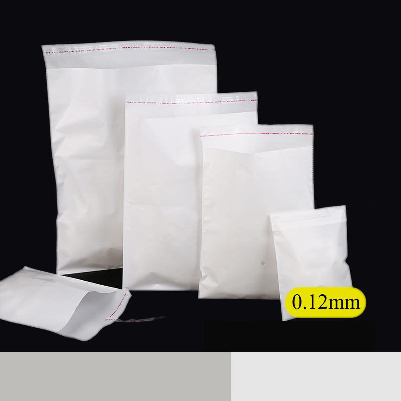 0.12mm white opp cellophane self adhesive seal plastic clothing packaging bags gift baking garment package storage frosted pouch