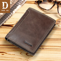 DIDE 2018 purse men's genuine leather Wallet Casual purse Standard Wallets Zipper Coin Purse Design Clutch Wallet men brand 679