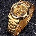 Reloj de Los Hombres Automático Esquelético de oro Reloj de Lujo Superior de la Marca de Acero Inoxidable Hombre Reloj relogio masculino esportivo