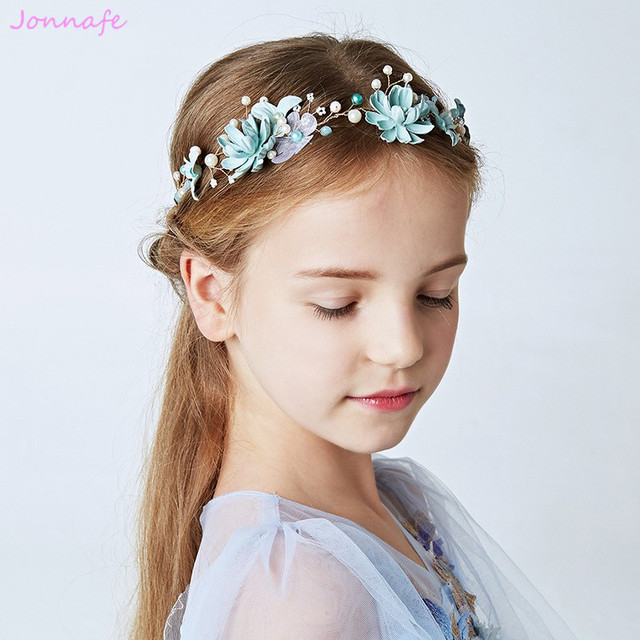 Jonnafe Florais Feitos A Mao Flor Da Menina Do Cabelo Headpiece