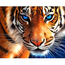 "Full Square Diamond 5D DIY Diamond Painting ""tiger"" Embroidery Cross Stitch Rhinestone Mosaic Painting Decor Gift"