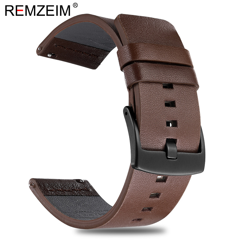 Italy Oil Leather Watchband Quick Release Watch Band Wrist Strap 18mm 20mm 22mm 24mm With Black Silver Stainless Steel Buckle