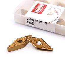 Vnmg160404 tm t9125/vnmg160408 tm t9125 tungaloy torneamento externo ferramentas carboneto inserção de alta qualidade torno ferramenta cortador tokarnyy