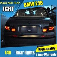 JGRT 자동차 스타일링 BMW E46 꼬리 조명 2010-2004 E46 LED 테일 램프 + 신호 + 브레이크 + 역 LED