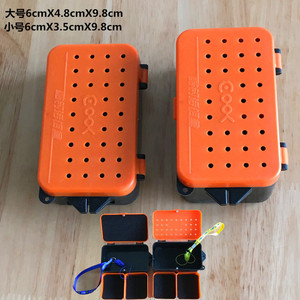 Image 5 - Multifunctional 2 Compartments Fishing Box 10*6*3.2cm Plastic Earthworm Worm Bait Lure Fly Carp Fishing Tackle Box Accessories