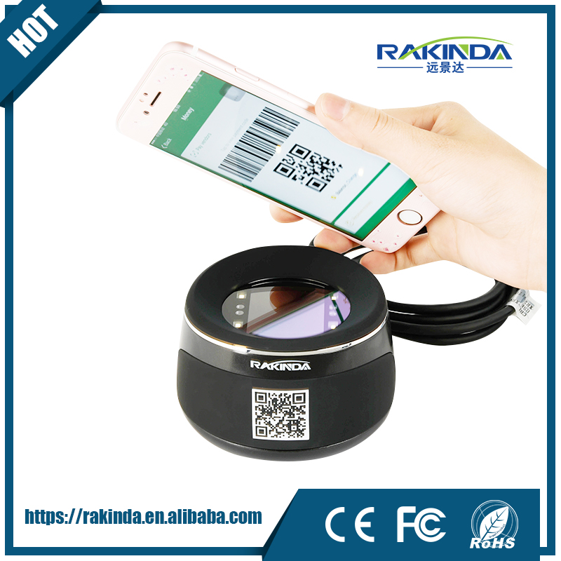 RAKINDA NEW ARRIVAL RD4100 High Quality Desktop Barcode Reader QR Code Scanner for Mobile Phone Payment, USB/RS232
