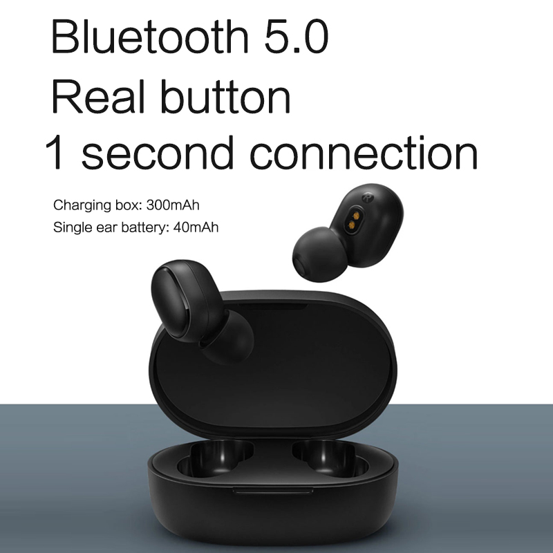 Xiaomi Redmi AirDots bluetooth earphone Mini True mi Wireless Bluetooth 5.0 earphones DSP Active Noise Cancellation Earbuds 2