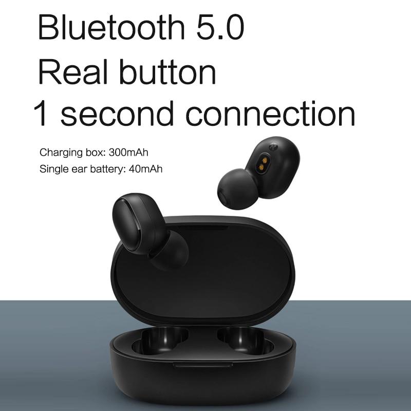 cheapest Xiaomi Redmi AirDots bluetooth earphone Mini True mi Wireless Bluetooth 5 0 earphones DSP Active Noise Cancellation Earbuds